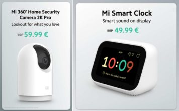 Xiaomi Launched New Mi 360 Home Security Camera 2K Pro, Mi Smart Clock